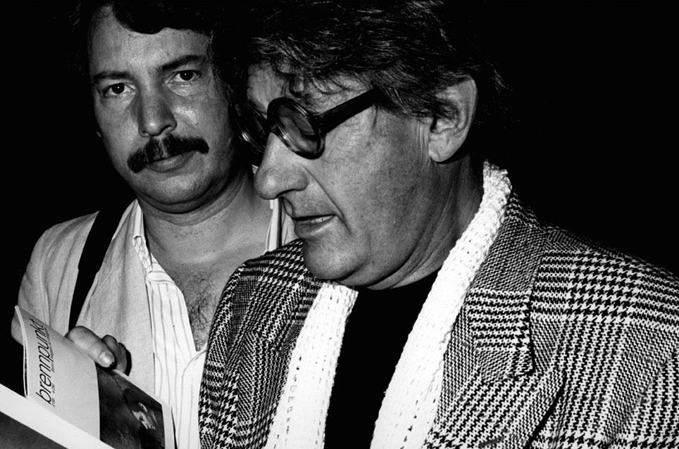 Dietmar Bührer mit Helmut Newton